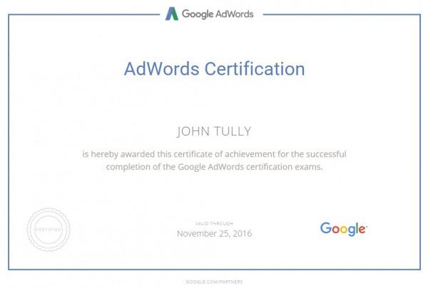 adwords cert