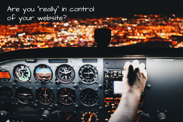 "Are you ""really"" in control of your website?"
